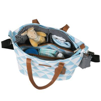 Imagem 3 do produto Bolsa 4 em 1 Sofia + Frasqueira térmica Emy + Frasqueira Organizadora Manhattan Azul - Masterbag