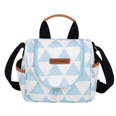 Imagem 4 do produto Bolsa 4 em 1 Sofia + Frasqueira térmica Emy + Frasqueira Organizadora Manhattan Azul - Masterbag