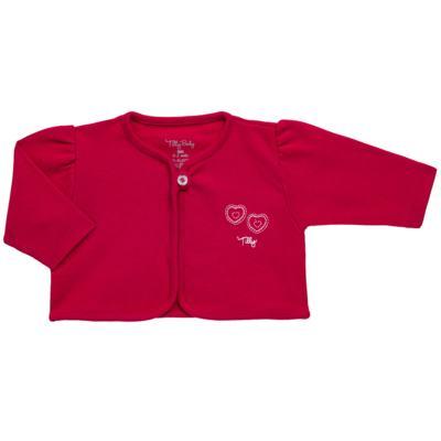 Imagem 5 do produto Macacão longo com Casaco em algodão egípcio Little Hearts - Tilly Baby - TB168162 MACACAO C/ CASACO FEM SUEDINE CORAÇÕES-P