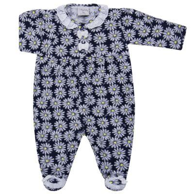 Imagem 1 do produto Macacão longo para bebe em malha Laise - Tilly Baby - TB168431 MACACAO ML FEM MARGARIDAS LAISE-M
