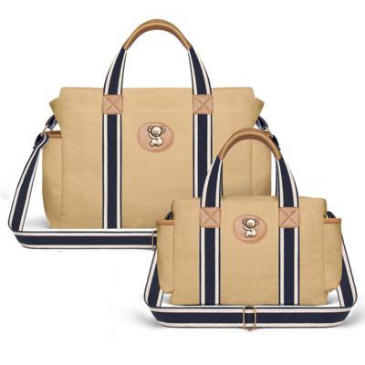 Imagem 1 do produto Bolsa Maternidade para bebe Albany + Frasqueira Térmica Gold Coast Adventure em sarja Caramelo - Classic for Baby Bags