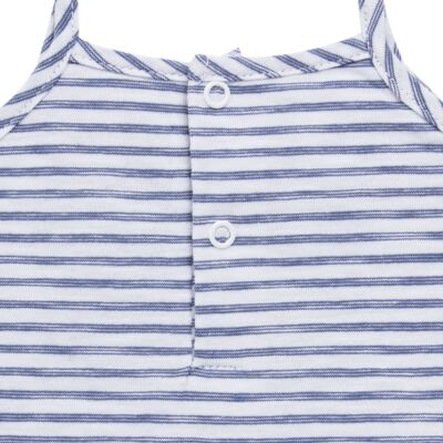 Imagem 5 do produto Vestido com Calcinha para bebe em malha Navy - Tilly Baby - TB168201 CONJ FEMININO VESTIDO C/ CALCINHA LISTRADO-M