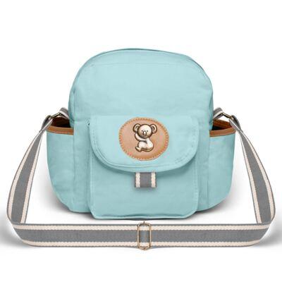 Imagem 3 do produto Bolsa Maternidade para bebe  Ibiza + Frasqueira Térmica Toulon +  Porta Mamadeira em sarja Adventure Azul - Classic for Baby Bags