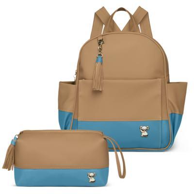 Imagem 1 do produto Mochila maternidade Davos + Necessaire Due Colore Turquesa -  Classic for Baby Bags