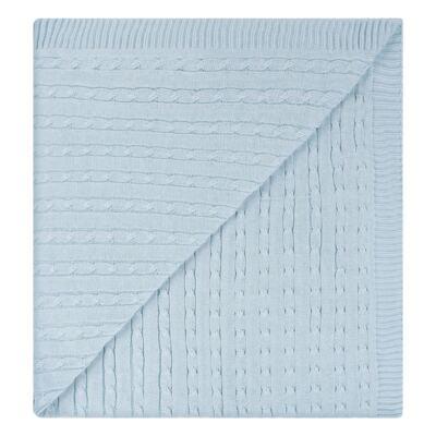 Imagem 13 do produto Kit Berço: Rolinhos Laterais + Rolinho Cabeceira + Almofada Quadrada + Manta em tricot trançado Mon Petit - Petit