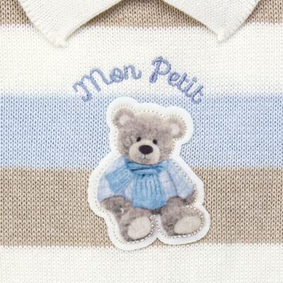 Imagem 2 do produto Macacão c/ golinha para bebe em tricot Mon Petit - Petit - 21884281 MACACAO C/ GOLA TRICOT AZUL BEBE-G