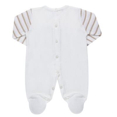 Imagem 3 do produto Macacão longo para bebe em tricot Nature Little Friends - Mini & Classic - 3071650 MACACAO TRICO BORDADO NATURE-RN