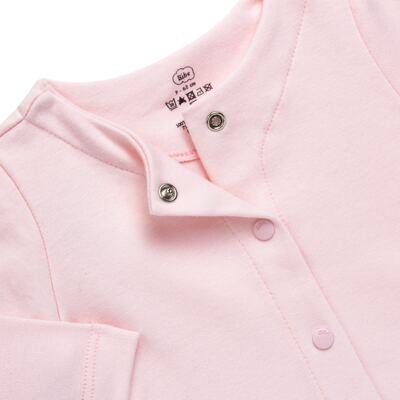 Imagem 2 do produto Casaco para bebe em algodão egípcio Rosa - Bibe - 10M03-60 CASACO BASICO CRISTAL ROSA-P