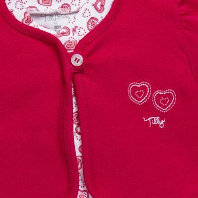 Imagem 2 do produto Macacão longo com Casaco em algodão egípcio Little Hearts - Tilly Baby - TB168162 MACACAO C/ CASACO FEM SUEDINE CORAÇÕES-RN