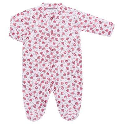Imagem 3 do produto Macacão longo com Casaco em algodão egípcio Little Hearts - Tilly Baby - TB168162 MACACAO C/ CASACO FEM SUEDINE CORAÇÕES-RN