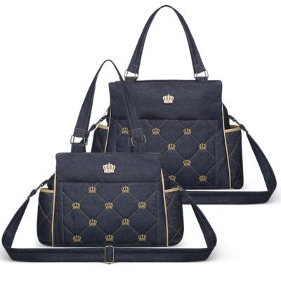 Imagem 1 do produto Bolsa Elizabeth + Bolsa Térmica Elizabeth para bebe Queen Jeans - Classic for Baby Bags