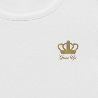 Imagem 4 do produto Blusinha para bebe em cotton Branca - Grow Up - 03170111.0001 BLUSA BASIC ML BRANCO-1