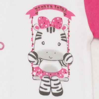 Imagem 2 do produto Body curto para bebe em suedine Zebrinha - Vicky Lipe - 937329 BODY MC COM ABERTURA SUEDINE ZEBRA-P