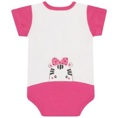Imagem 3 do produto Body curto para bebe em suedine Zebrinha - Vicky Lipe - 937329 BODY MC COM ABERTURA SUEDINE ZEBRA-P