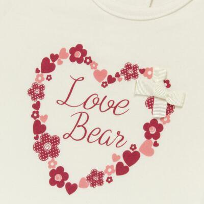 Imagem 2 do produto Blusinha para bebe em cotton Flowery Bear - Vicky Lipe - 1371360 BLUSINHA MC COTTON URSA FLORAL-2