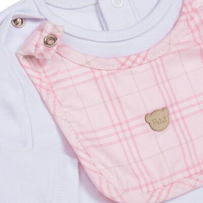 Imagem 2 do produto Body c/ Babador e Mijão para bebe em suedine Le Petit Rosa - Baby Classic - 18010001.01 CONJUNTO BODY C/ BABADOR E MIJÃO-SUEDINE-P