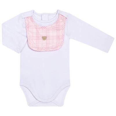 Imagem 3 do produto Body c/ Babador e Mijão para bebe em suedine Le Petit Rosa - Baby Classic - 18010001.01 CONJUNTO BODY C/ BABADOR E MIJÃO-SUEDINE-P