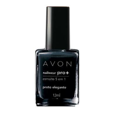 Imagem 1 do produto Nailwear Pro+ Esmalte 5 em 1 12 ml - Nailwear Pró+ Esmalte 5 em 1 - 12 ml - Preto Elegante *Cremosa