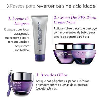 Imagem 2 do produto Creme Anti-Idade Avon Renew Platinum 60+   Olhos e Lábios 15g