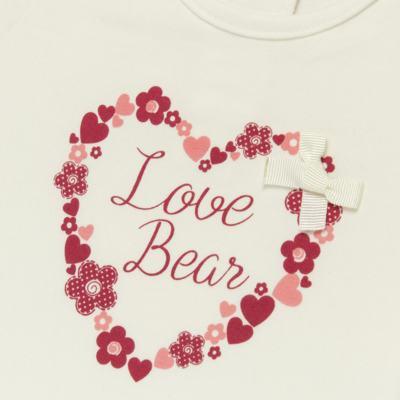 Imagem 2 do produto Blusinha para bebe em cotton Flowery Bear - Vicky Lipe - 1371360 BLUSINHA MC COTTON URSA FLORAL-3