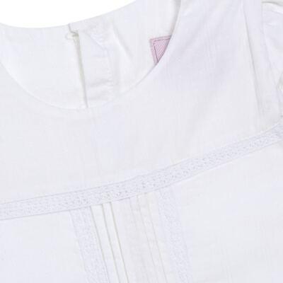 Imagem 2 do produto Bata em tricoline & renda Off White - Missfloor - 50MC0001.369  BATA AVULSA MC - TRICOLINE-1