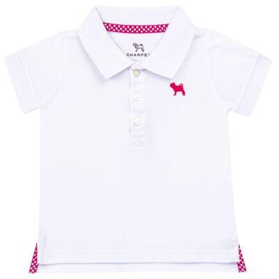 Imagem 1 do produto Blusinha Polo em piquet Branca - Charpey