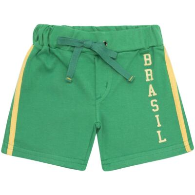 Imagem 3 do produto Body curto com Shorts em Pima Cotton Supreme Brasil - Mini & Kids - CBCB334 BODY M/C C/ BERMUDA SUEDINE BRASIL-P