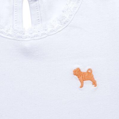 Imagem 2 do produto Blusinha para bebe em cotton Branca - Charpey - CY21302.101 BLUSA COTTON ML BRANCO-M
