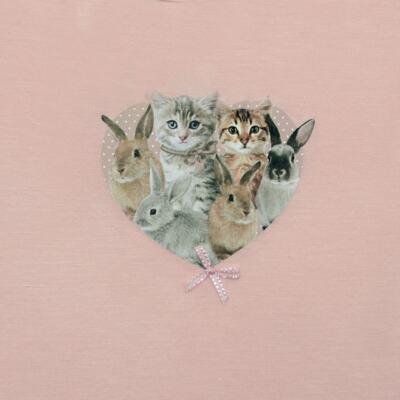 Imagem 2 do produto Blusinha para bebe em viscolycra Cats & Rabbits - Baby Classic - 016961 BLUSINHA M/L VISCOLYCRA PET PRINT-2