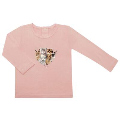 Imagem 1 do produto Blusinha para bebe em viscolycra Cats & Rabbits - Baby Classic - 016961 BLUSINHA M/L VISCOLYCRA PET PRINT-GG