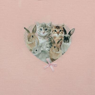 Imagem 2 do produto Blusinha para bebe em viscolycra Cats & Rabbits - Baby Classic - 016961 BLUSINHA M/L VISCOLYCRA PET PRINT-GG
