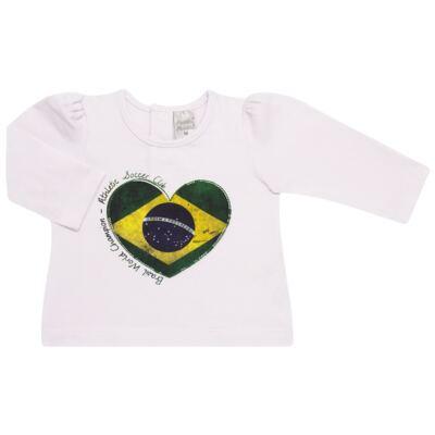 Imagem 1 do produto Blusinha manga longa para bebe em cotton Brasil - Baby Classic - 078353 BLUSINHA ML COTTON COPA-G