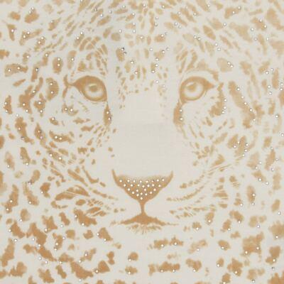 Imagem 2 do produto Blusinha manga longa para bebe em viscolycra Animal Print Caramel - Baby Classic - 016340 BLUSINHA GOLA CARECA VISCOLYCRA ONCINHA MARFIM-G
