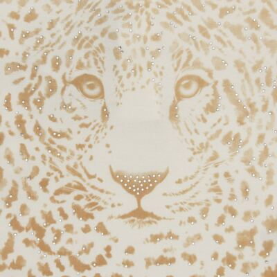 Imagem 2 do produto Blusinha manga longa para bebe em viscolycra Animal Print Caramel - Baby Classic - 016340 BLUSINHA GOLA CARECA VISCOLYCRA ONCINHA MARFIM-2