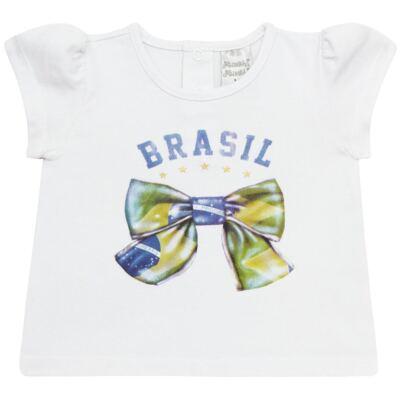 Imagem 1 do produto Blusinha bufante para bebe em cotton Brasil - Baby Classic - 671352 BLUSINHA BÁSICA FEM. COTTON COPA-G