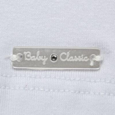 Imagem 3 do produto Blusinha para bebe em cotton Branca - Baby Classic - 21751445 BLUSINHA M/C GOLA COTTON CLÁSSICO-3