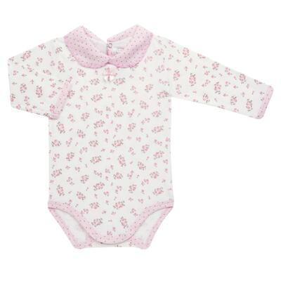 Imagem 2 do produto Body golinha c/ Calça para bebe em suedine Florzinhas - Dedeka - DDK17577/E166 CONJUNTO DE BODY SUEDINE FLORAL-P
