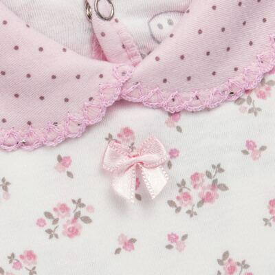 Imagem 3 do produto Body golinha c/ Calça para bebe em suedine Florzinhas - Dedeka - DDK17577/E166 CONJUNTO DE BODY SUEDINE FLORAL-P