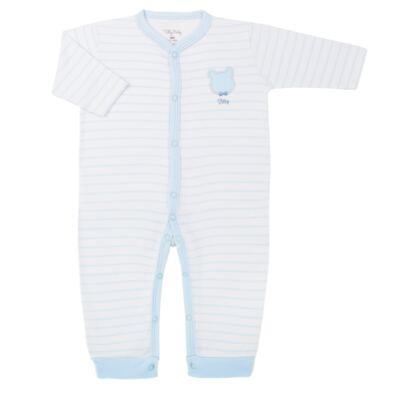 Imagem 1 do produto Macacão longo para bebe em suedine Ursinho - Tilly Baby - TB183700 MACACAO LONGO MASC URSO GRAVATA-M