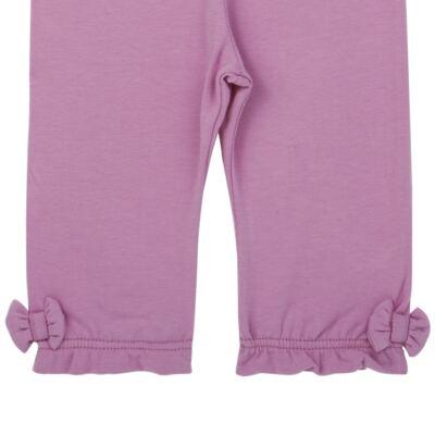Imagem 2 do produto Legging para bebe em cotton FruFru & Laços Orquídea - Tilly Baby - TB183006 LEGGING FEM ORQUIDEA-P