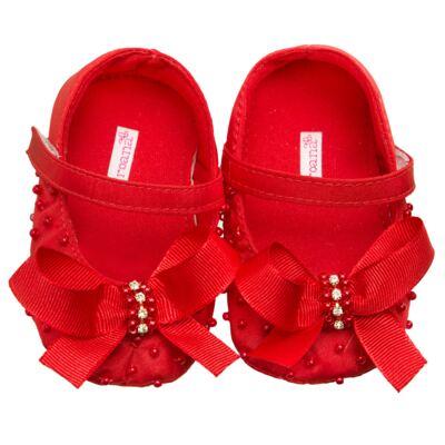 Imagem 1 do produto Sapatilha para bebe Mini Pérolas & Laço Vermelha - Roana - 19740015007 SAPATILHA ESPECIAL LAÇO VERMELHO-RN