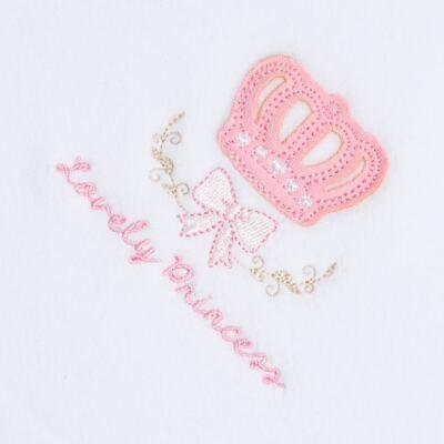 Imagem 2 do produto Cobertor para bebe forrado em microsoft Lovely Princess - Classic for Baby - CBS4121 COBERTOR MICROSOFT C/ FORRO MALHA COROA FEMININA