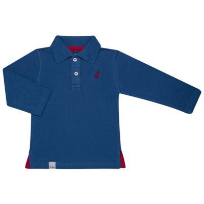 Imagem 1 do produto Polo manga longa para bebe em piquet Azul - Toffee - 65PL0001.317 CAMISETA POLO M/L PIQUET AZUL-9-12