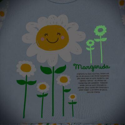Imagem 4 do produto Pijama longo que Brilha no Escuro Little Daisies - Cara de Criança - L2073 MARGARIDA L PJ-LONGO M/MALHA -4
