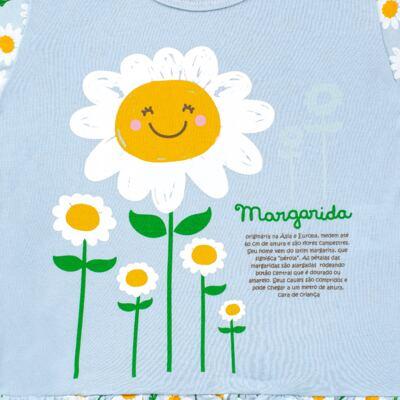 Imagem 3 do produto Pijama longo que Brilha no Escuro Little Daisies - Cara de Criança - L2073 MARGARIDA L PJ-LONGO M/MALHA -2