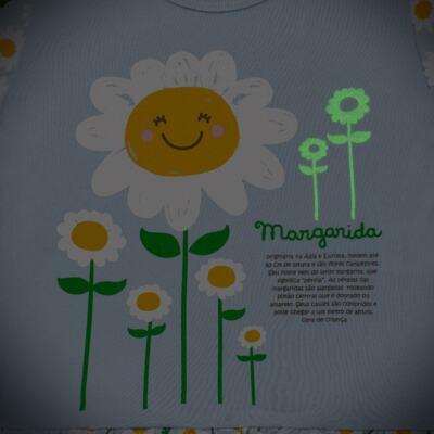 Imagem 4 do produto Pijama longo que Brilha no Escuro Little Daisies - Cara de Criança - L2073 MARGARIDA L PJ-LONGO M/MALHA -3
