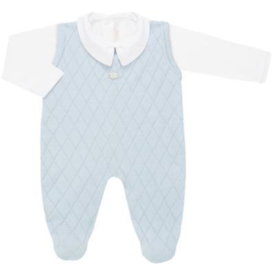 Imagem 1 do produto Jardineira c/ Body longo em tricot Bleu - Petit