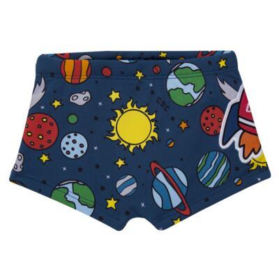 Imagem 3 do produto Conjunto de Banho para bebe Galaxy: Camiseta + Sunga - Cara de Criança - KIT 1 2578: SBB2578+CCAB2578 SUNGA E CAMISETA ESPACIAL-M