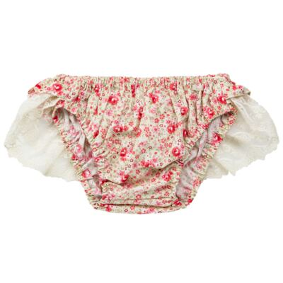 Imagem 3 do produto Conjunto de banho para bebê Liberty: Bumbum + Chapéu - Roana - BSR00900973 BANHO DE SOL C/ RENDA 3737 FLORAL/LARANJA-M