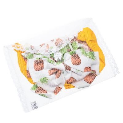 Imagem 5 do produto Conjunto de banho Pineapple: Bumbum + Faixa de Cabelo - Roana - BAST0904013 BANHO DE SOL TURBANTE 124 AMARELO-P
